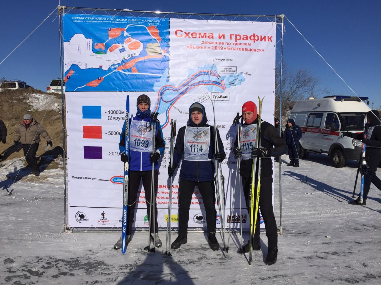 Студенты БПК на Лыжне России