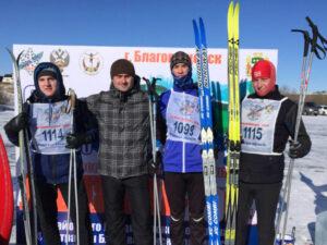 Лыжня России студенты БПК