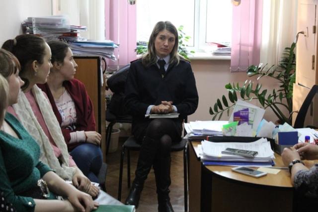 Беседа с сотрудниками общежития