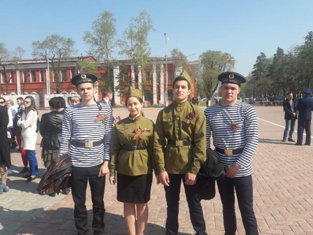 Студенты БПК на площади Победы