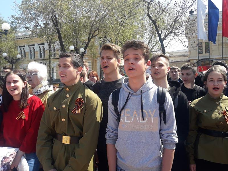 Студенты БПК приняли участие в празднование Дня Победы